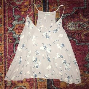 Urban Outfitters Kimchi Blue Floral Peplum Tank